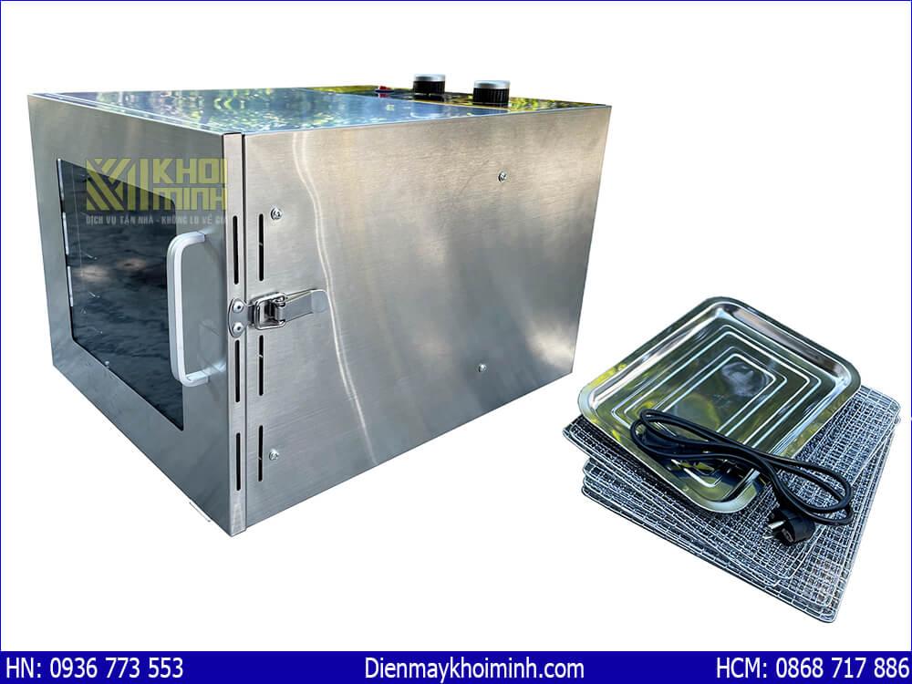 máy sấy thực phẩm inox mini 6 khay