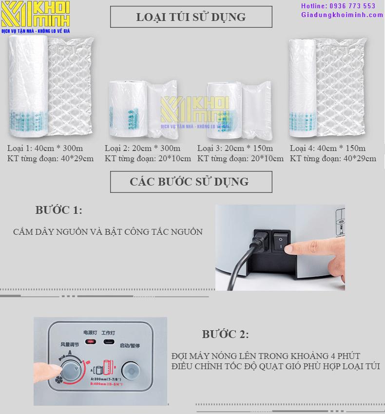 máy thổi túi đệm khí chèn hàng