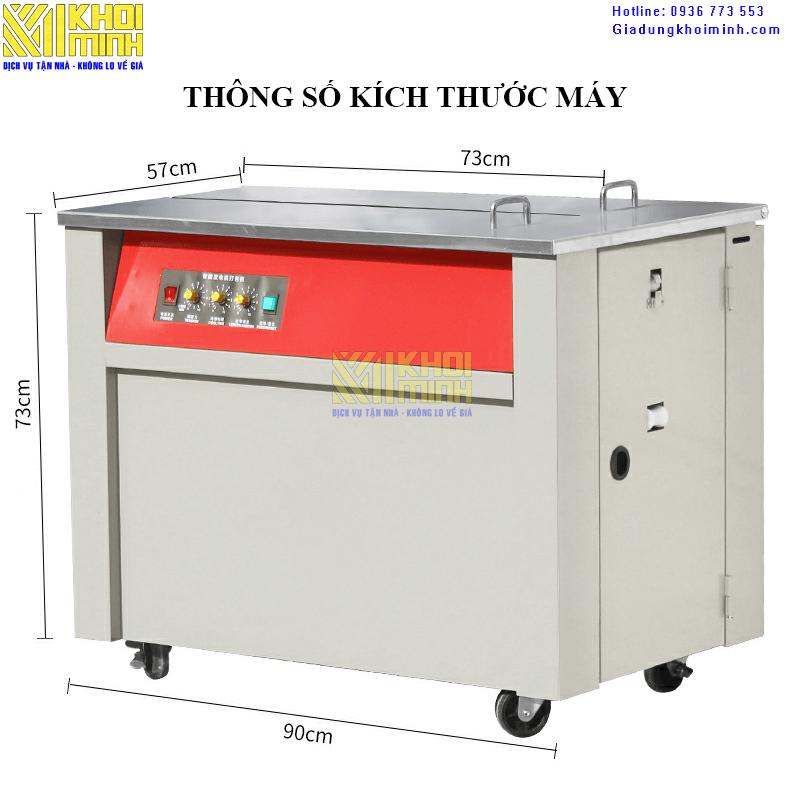 máy đóng đai thùng km730