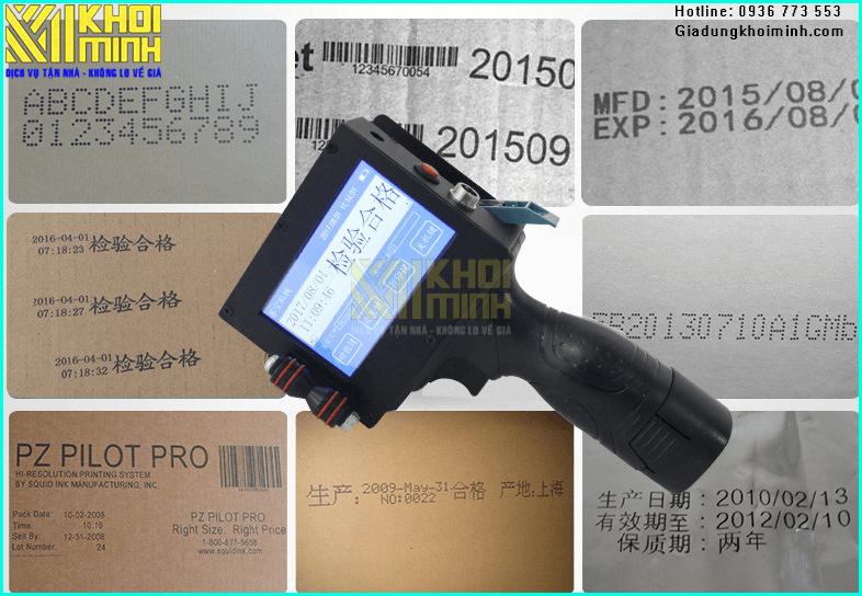 Máy in date cầm tay mini d580 in được trên mọi chất liệu