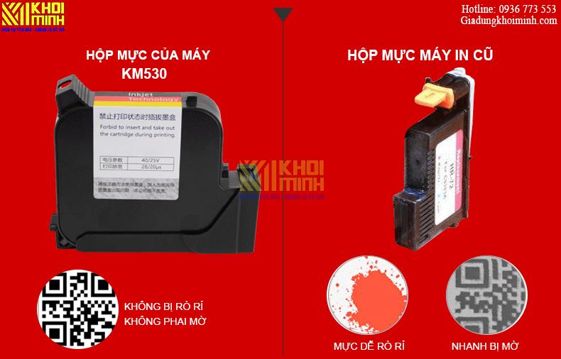 hộp mực in của máy in phun KM530-PRO