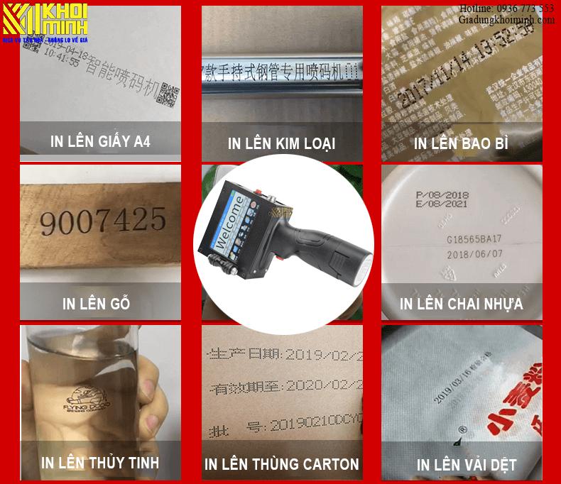 máy in phun date cầm tay in phun được trên nhiều vật liệu