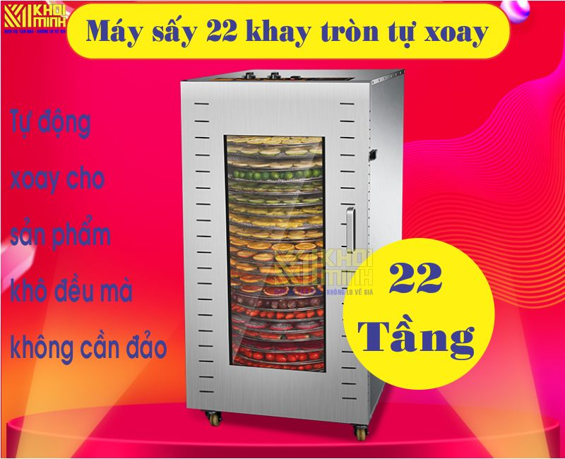 Máy sấy khô thực phẩm 22 khay