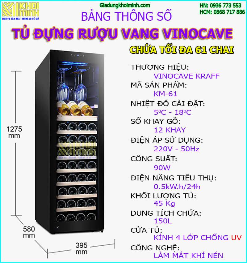tủ đựng rượu Vinocave