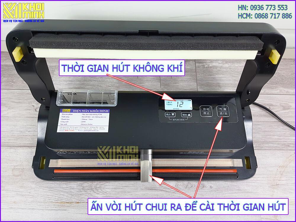 Cách sử dụng máy hút chân không p290b