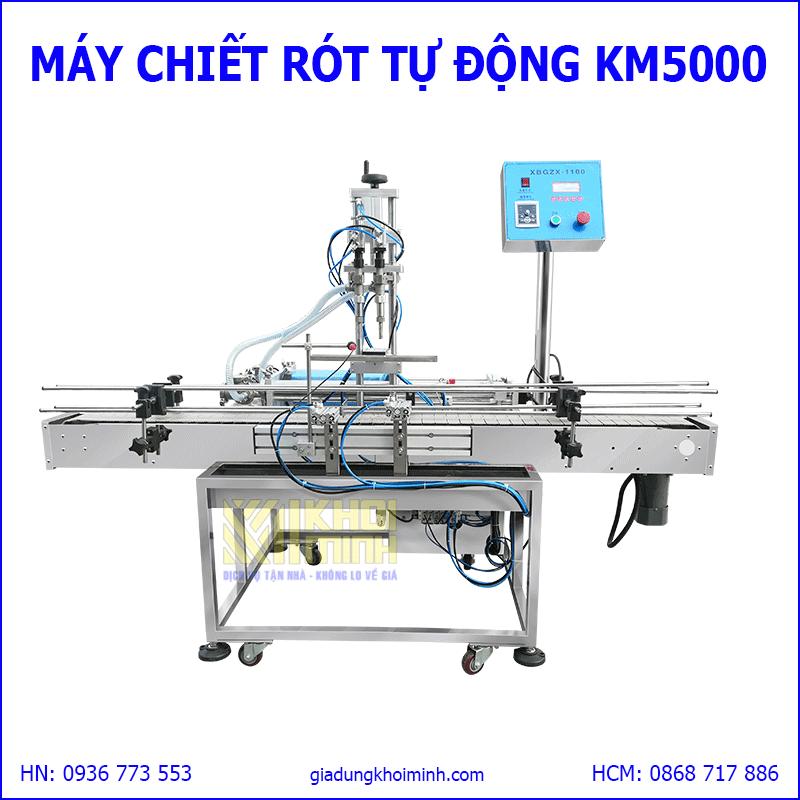 Máy chiết rót tự động 2 vòi KM5000: chiết rót định lượng chất lỏng độ chính xác cao