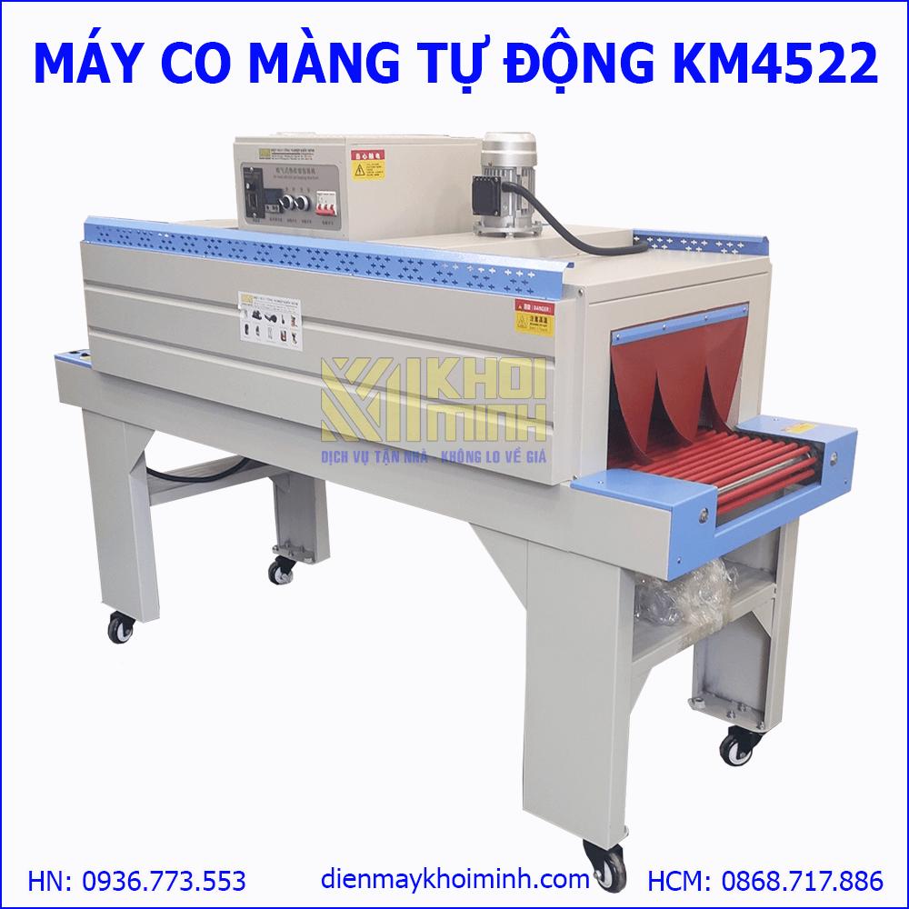 Máy co màng tự động KM4522: buồng co 1,5m cho tốc độ làm việc hiệu quả
