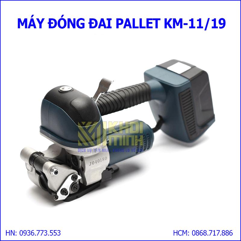 Máy đóng đai Pallet: máy đóng dây đai nhựa lực siết cao, pin dung lượng lớn 4000mAh
