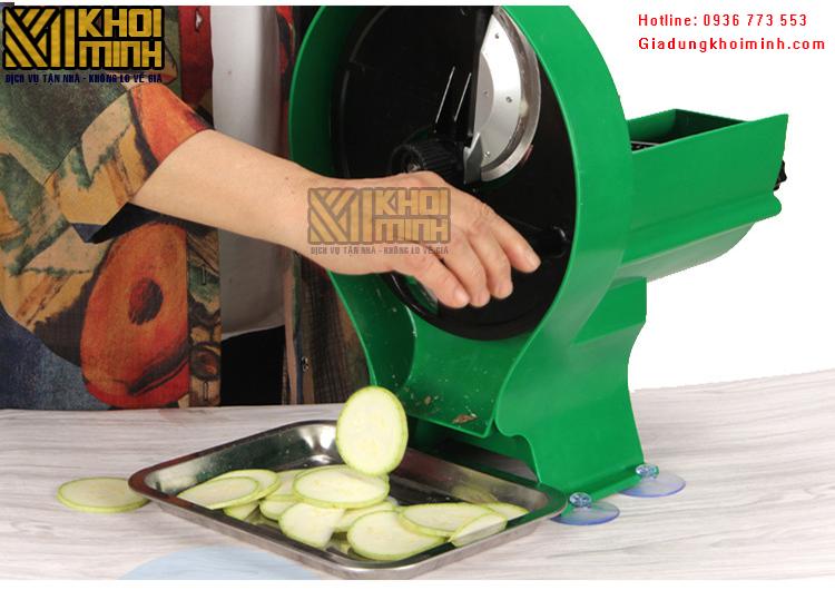 Máy cắt lát củ quả có tay quay, điều chỉnh được độ dày lát cắt