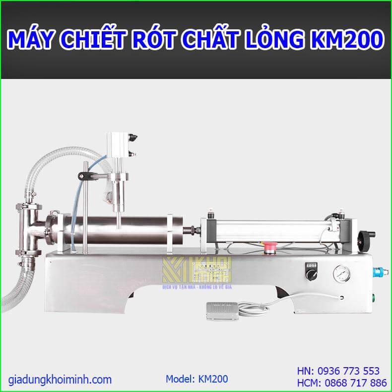 Máy chiết rót định lượng KM200: Máy chiết rót chất lỏng tự động