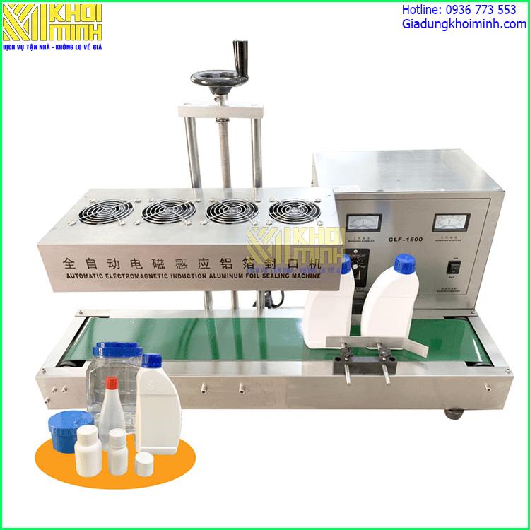 Máy dán màng seal tự động KM1800: phù hợp với dây chuyền sản xuất tự động