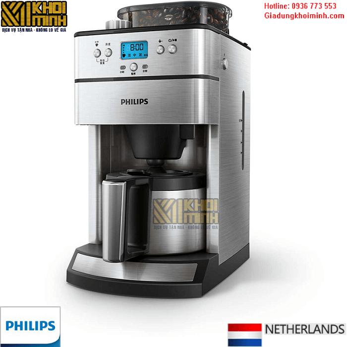 Máy pha cà phê Philips HD7753: tự động xay và pha cà phê tối đa 10 cốc