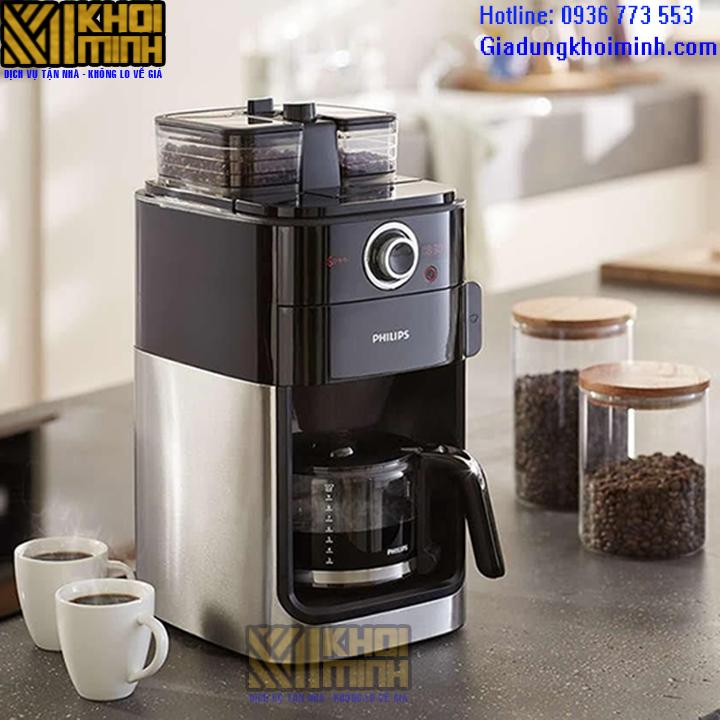Máy pha cà phê philips hd7762: Pha cà phê dạng hạt hoặc say sẵn