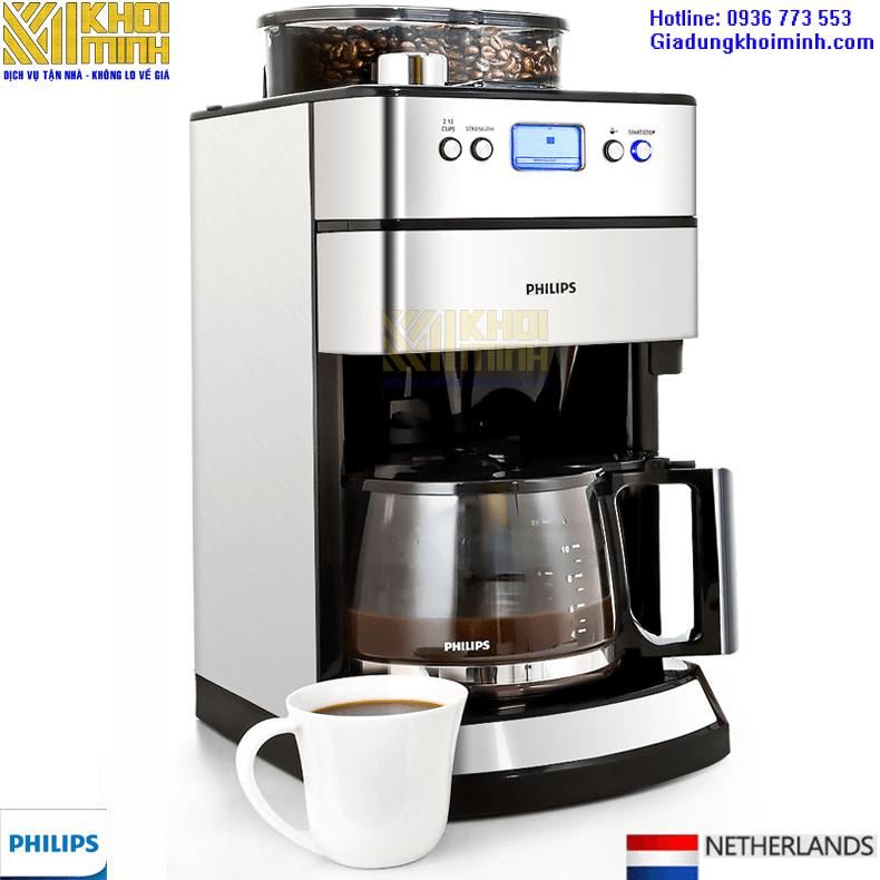 Máy pha cà phê tự động Philips HD7751: pha cà phê dạng hạt tối đa 10 cốc
