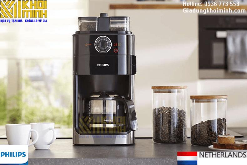 Máy pha cà phê tự động philips hd7766: xay và pha cà phê dạng hạt