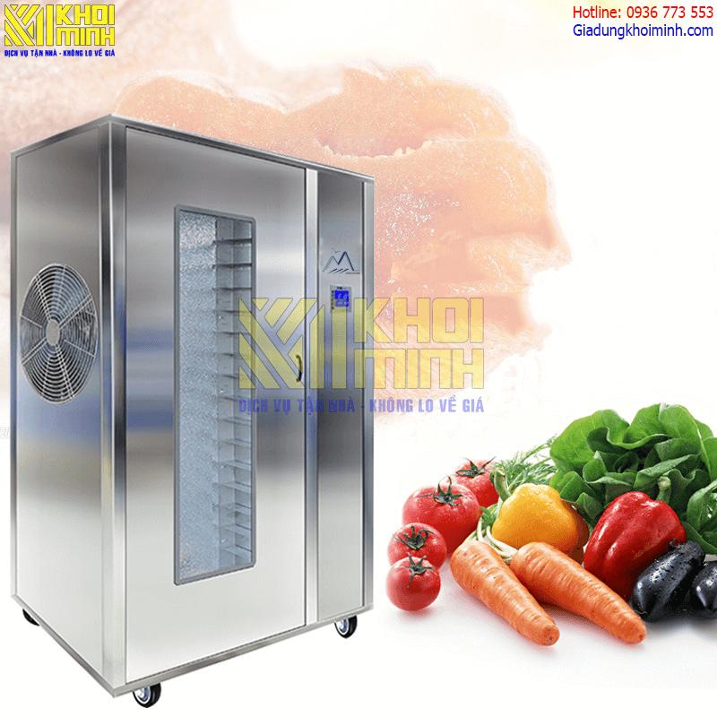 Máy sấy hoa quả công nghiệp KM18: Công nghệ sấy lạnh cho thực phẩm tốt hơn