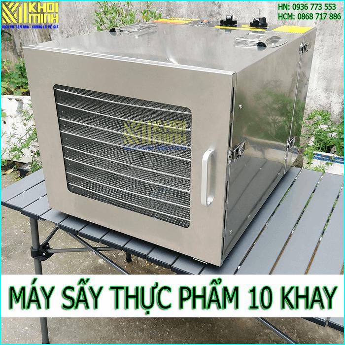 Máy sấy thực phẩm 10 khay Khôi Minh: bản mới nhất 2020, nhiều cải tiến