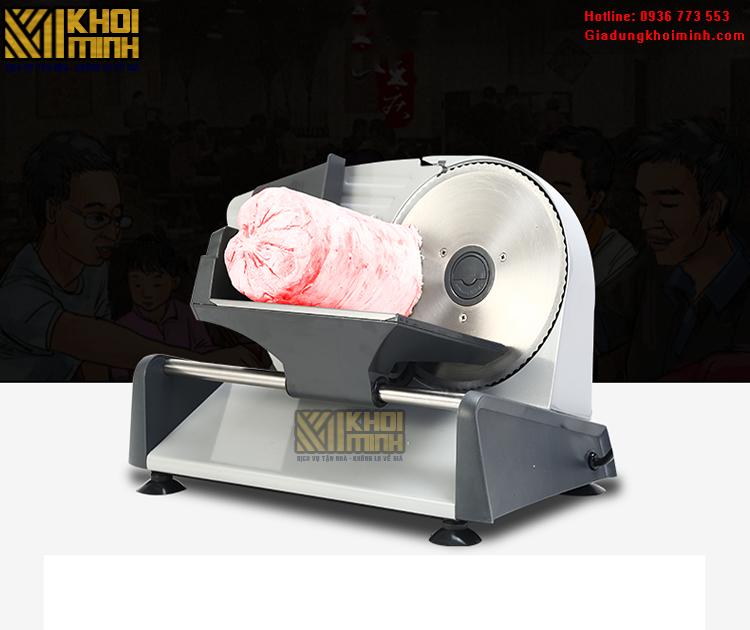 Máy thái thịt cho quán phở: máy thái thịt đa năng chỉnh được độ dày lát cắt