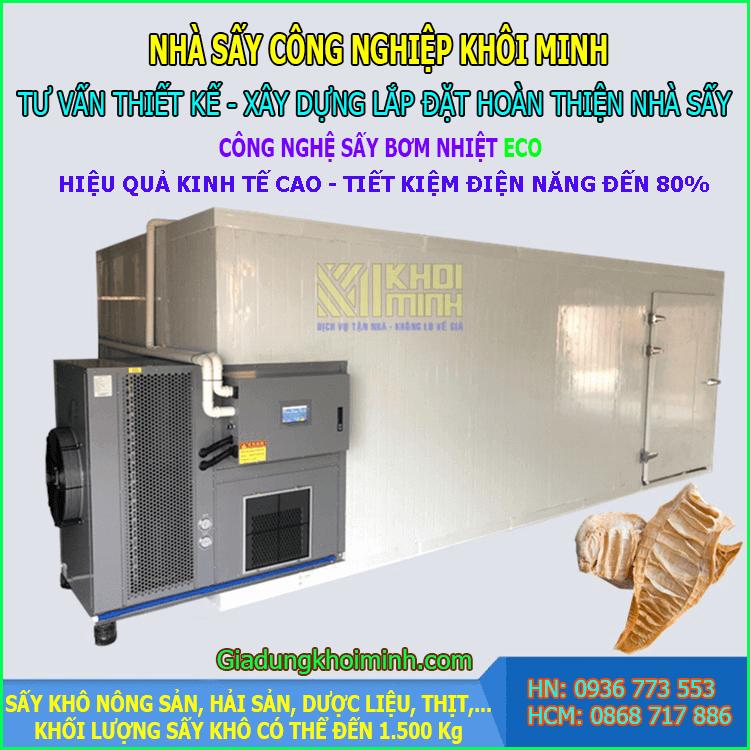Nhà sấy công nghiệp ECO KM300 (300kg) – Sấy bơm nhiệt tiết kiệm 80% điện năng