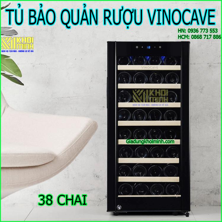 Tủ bảo quản rượu vang Vinocave: chứa tối đa 38 chai ở nhiệt độ 5-18 độ