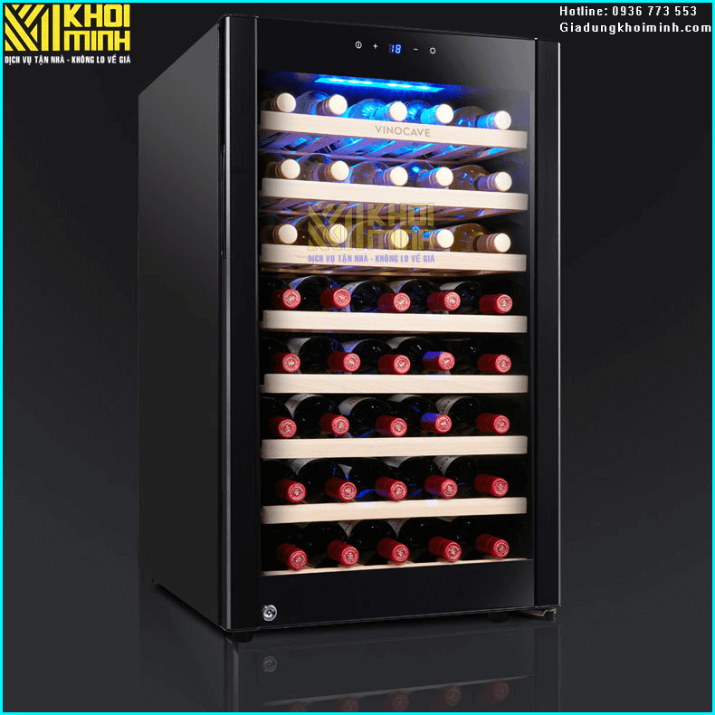 Tủ bảo quản rượu vang Vinocave 52 chai: hầm rượu mini sang trọng trong ngôi nhà của bạn